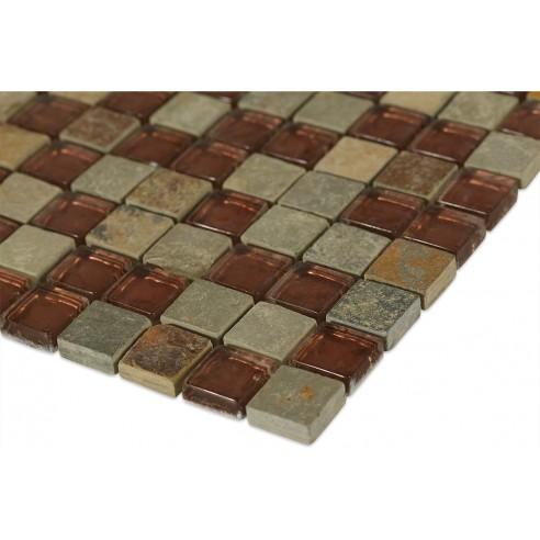 Geological Squares Multi Slate + Rust_corner_closeup