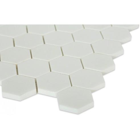 White Thassos Hexagon_corner_closeup