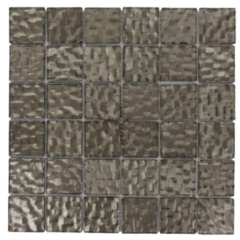 Terrene Chrome 2x2 Glass Tile