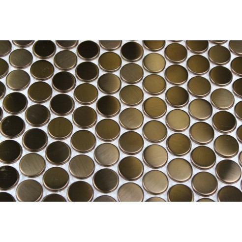 sample-METAL COPPER STAINLESS STEEL 3/5 PENNY ROUND TILES SAMPLE_MAIN