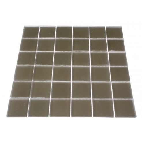 LOFT KHAKI FROSTED 2 X 2 GLASS TILES_1