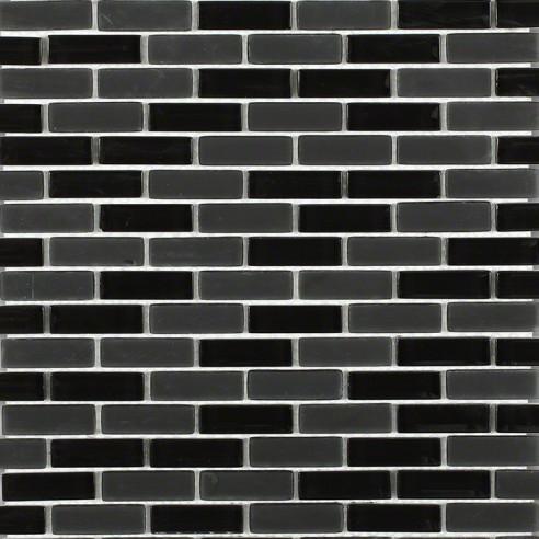 Loft Classic Black 1/2x2 Brick Pattern