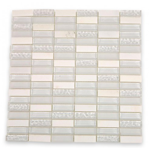 Spa Condensation Blend 1/2x2 Glass Tile