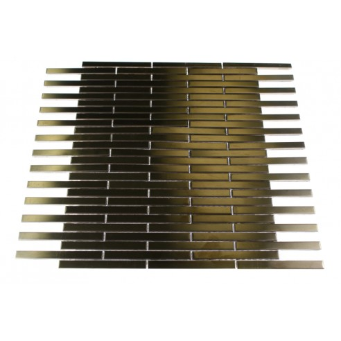 Shop 12x12 metal stick brick tiles in matte copper for 8x4 bathroom design