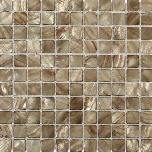 Mother Of Pearl Smoked Wood Tile