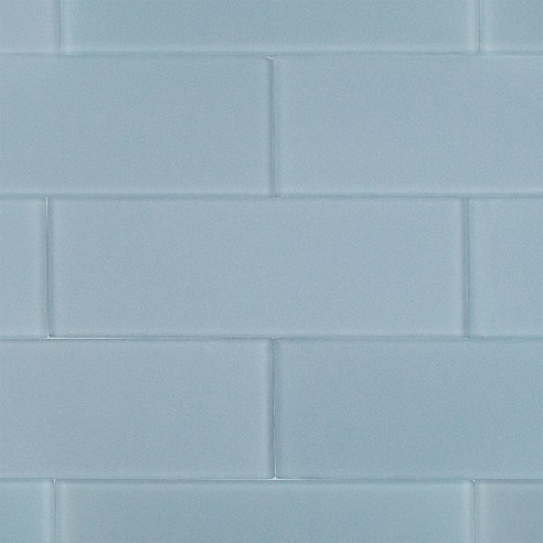 Loft Blue Gray Frosted 4X12 Glass