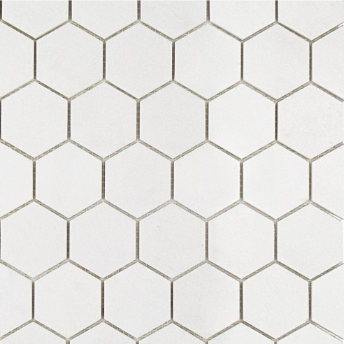White Thassos Hexagon