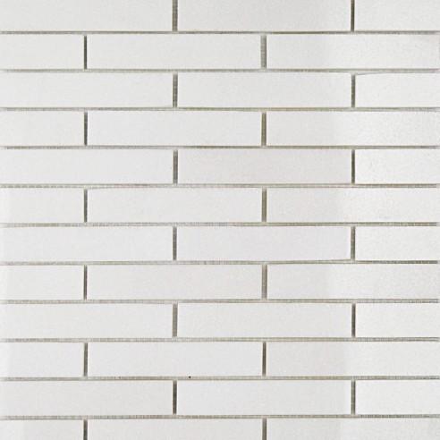 White Thassos 3/4 X 4 Big Brick Pattern Marble Mosaic Tiles