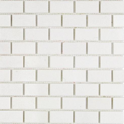 White Thassos Polished 1x2 Marble Tile