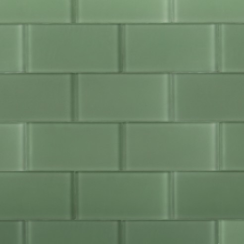 Loft Spa Green Frosted 3x6 Glass Tile