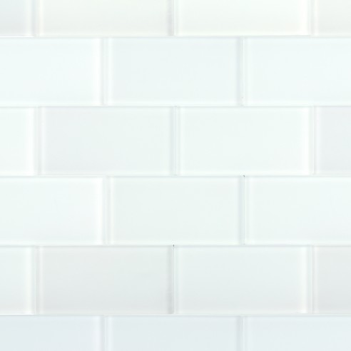 Loft Super White Polished 3x6 Glass TIle