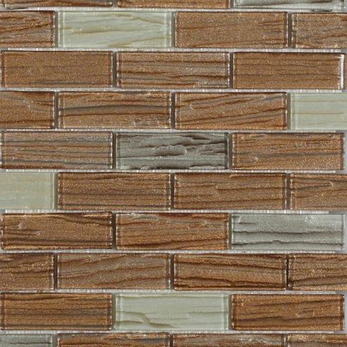 Terrene Pluto Blend 1x3 Glass Tiles