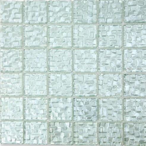Terrene Snow Cap 2x2 Glass Tile