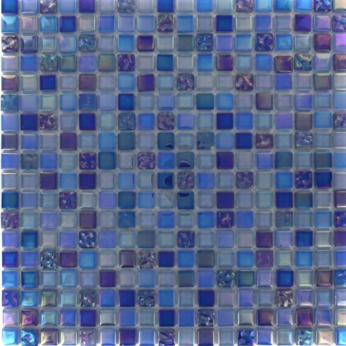 Whimsical Cobalt Lagoon Glass Tile