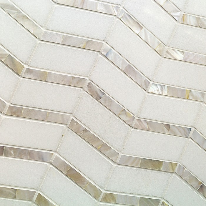 Alerion Thassos And Mother Of Pearl Tile Tilebar Com