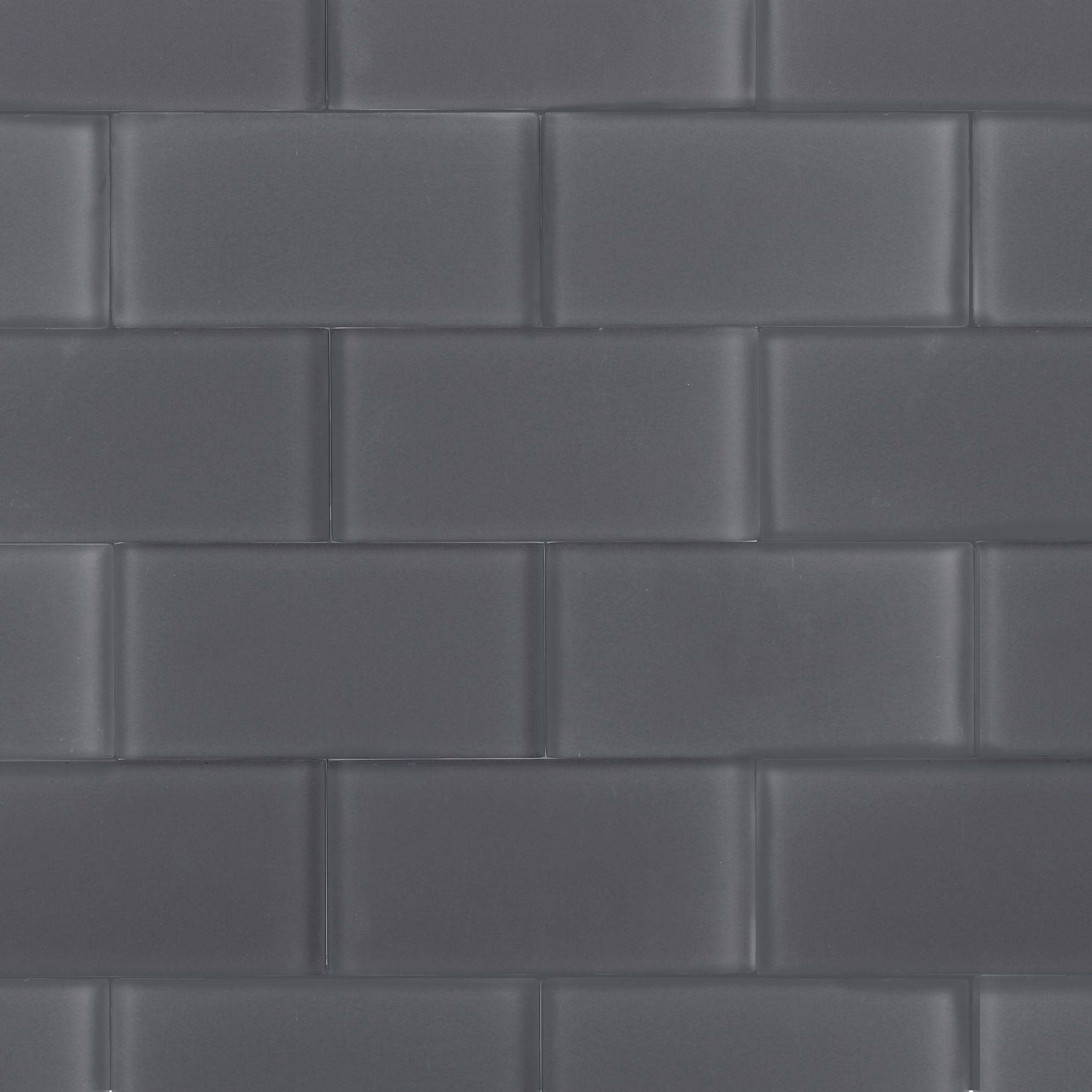 Shop For Loft Ash Gray Frosted 3x6 Glass Tile At Tilebar Com