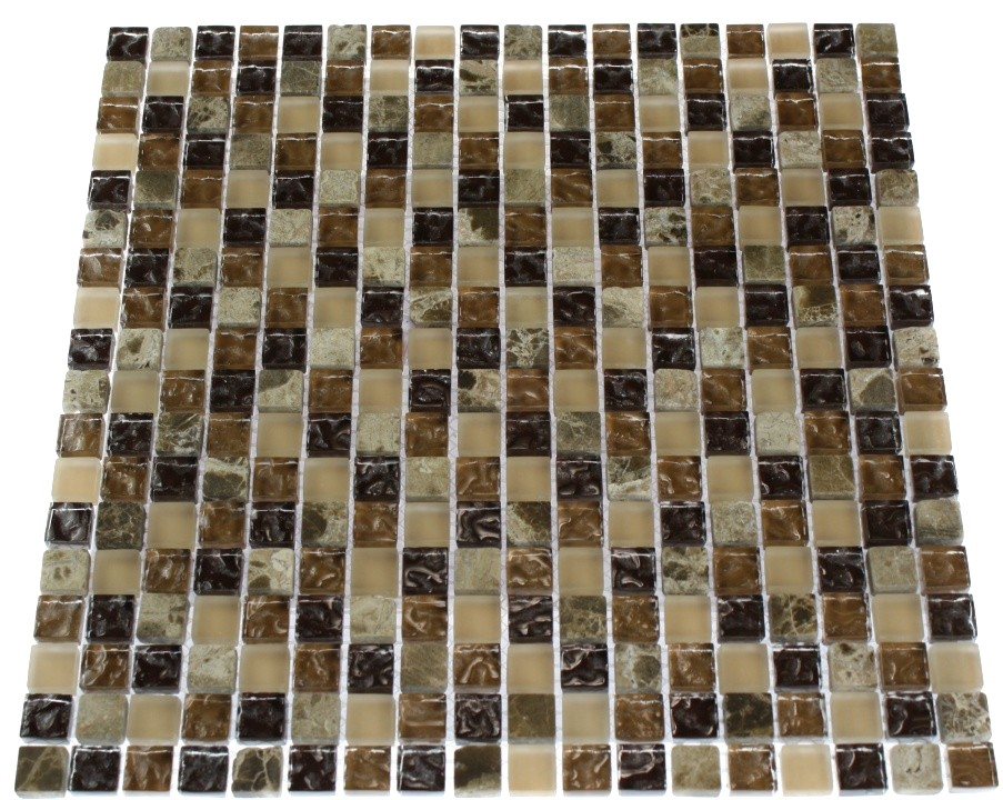 Barrel Brown Blend 1 2x1 2 Glass Tile