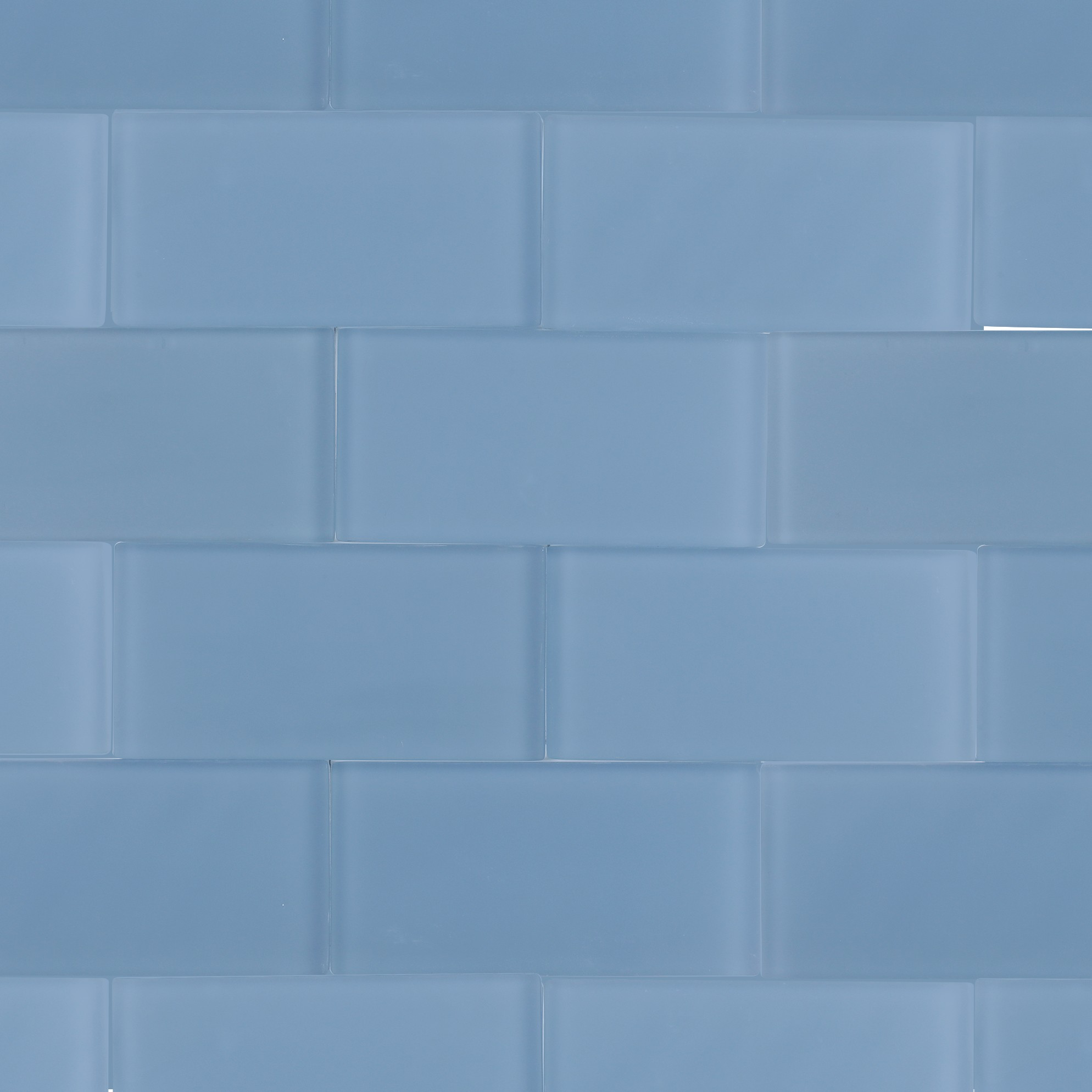 Shop For Loft Blue Gray Frosted 3x6 Glass Tile At