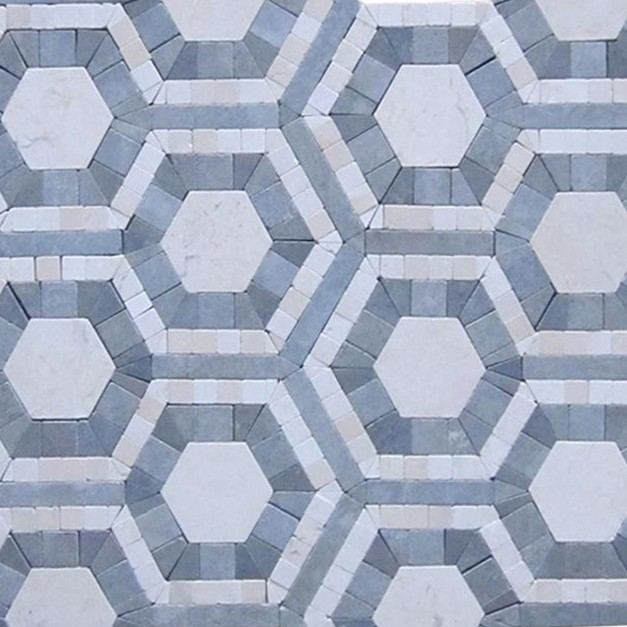 Shop For Cosmos Carrera And Moonstone Hexagon Marble Tile