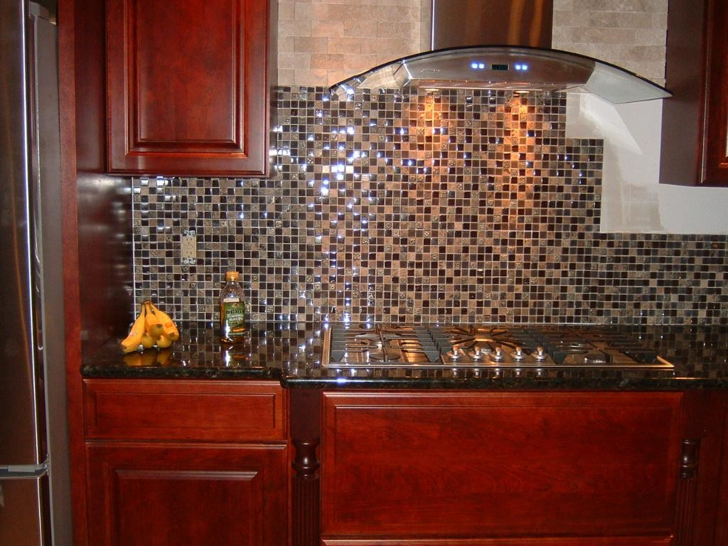 Coffee Bean Glass/Stone Backslash Tile