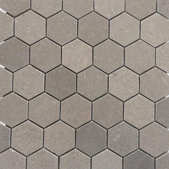 Shop For Lady Gray 2 Hexagon Honed Marble Tile At Tilebar Com