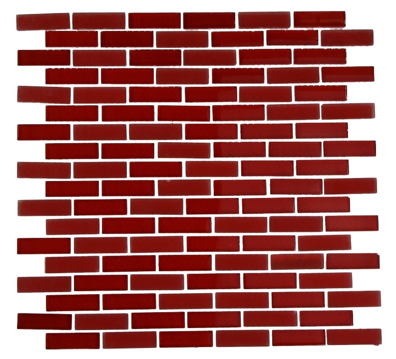 Red Brick Patterns http://www.glasstilestore.com/shop-by-colors-now/red/loft-cherry-red-1-2x2-brick-pattern-loftcherryred1-2x2brick.html