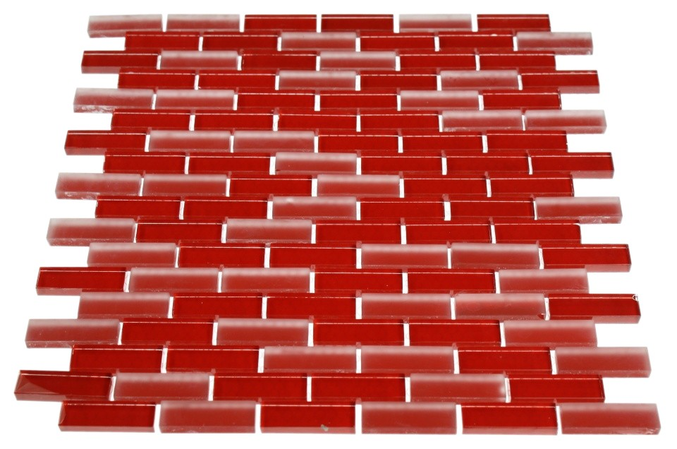 Red Brick Patterns http://www.glasstilestore.com/collection/glass-tiles/spa-glass-series/loft-cherry-red-1-2x2-brick-pattern-loftcherryred1-2x2brick.html