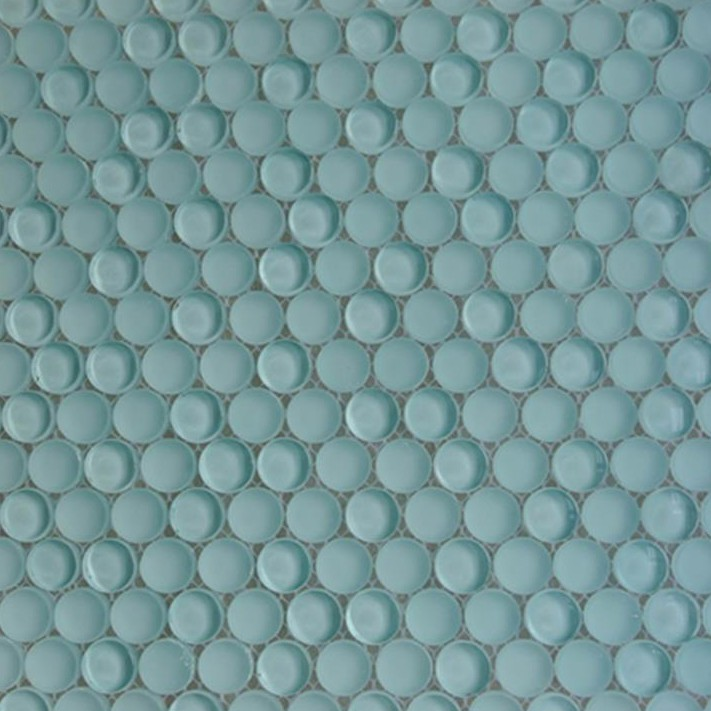 Shop For Loft Adriatic Mist Penny Round Glass Tiles at