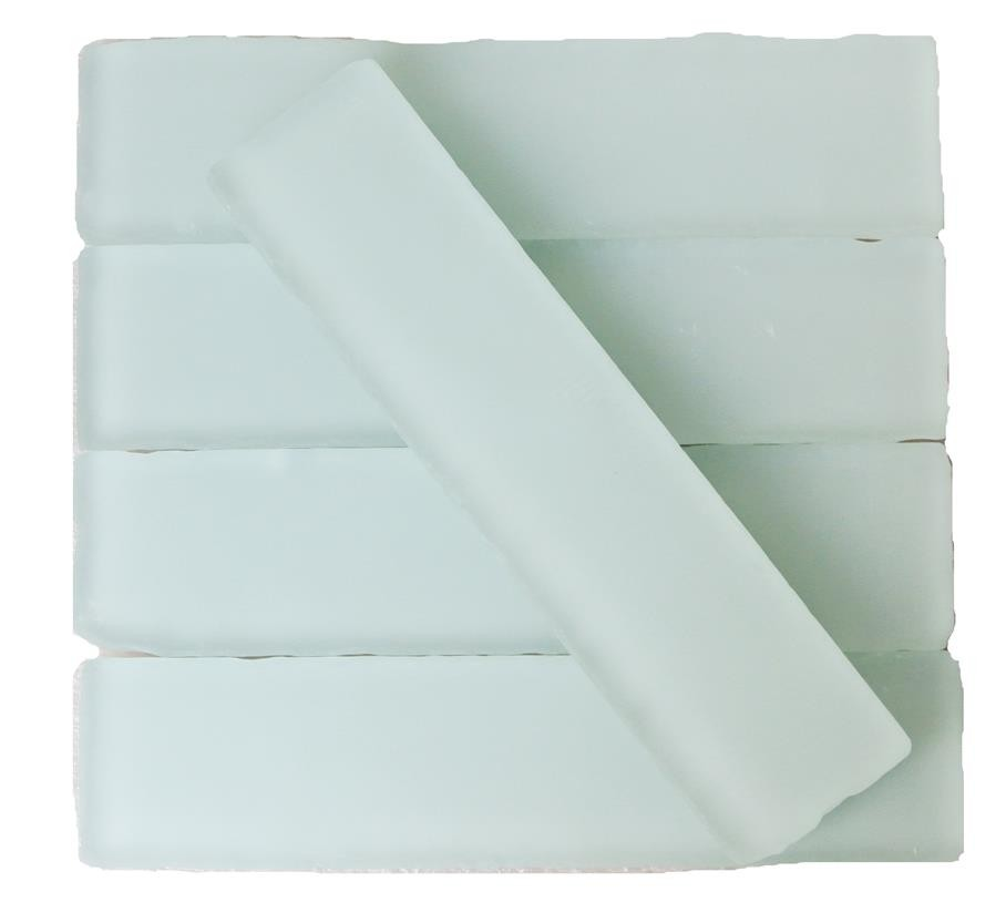 Shop for coastal shower 2x8 beached frosted glass tiles at - Frosted glass backsplash ...