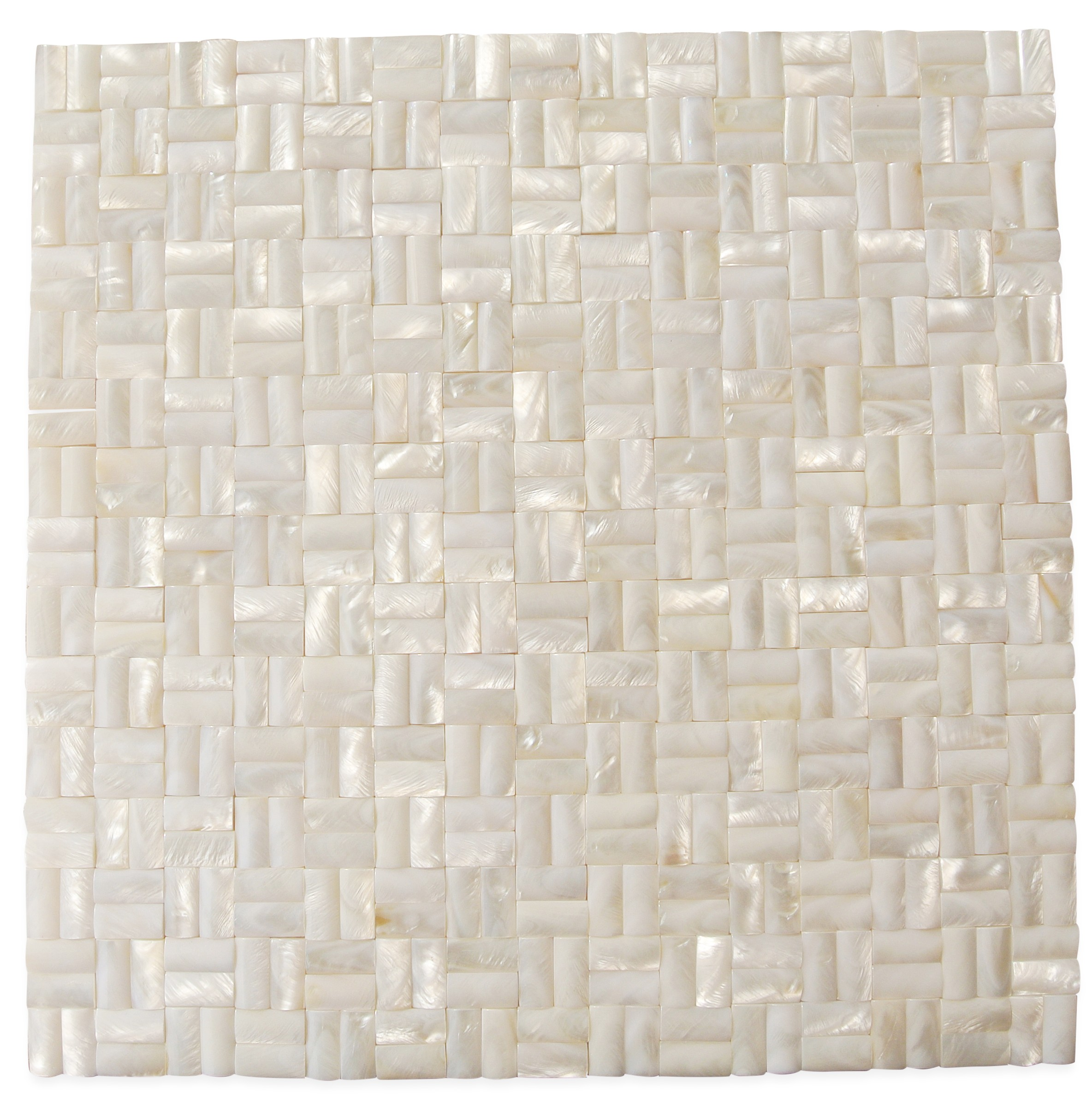 Shop 12 X 12 Serene White 3d Groutless Polished Pearl
