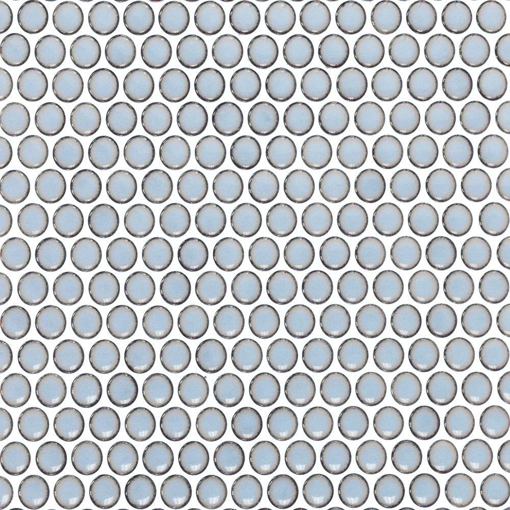 Eden Rimmed Cloudy Sky Penny Round Polished Ceramic Tile