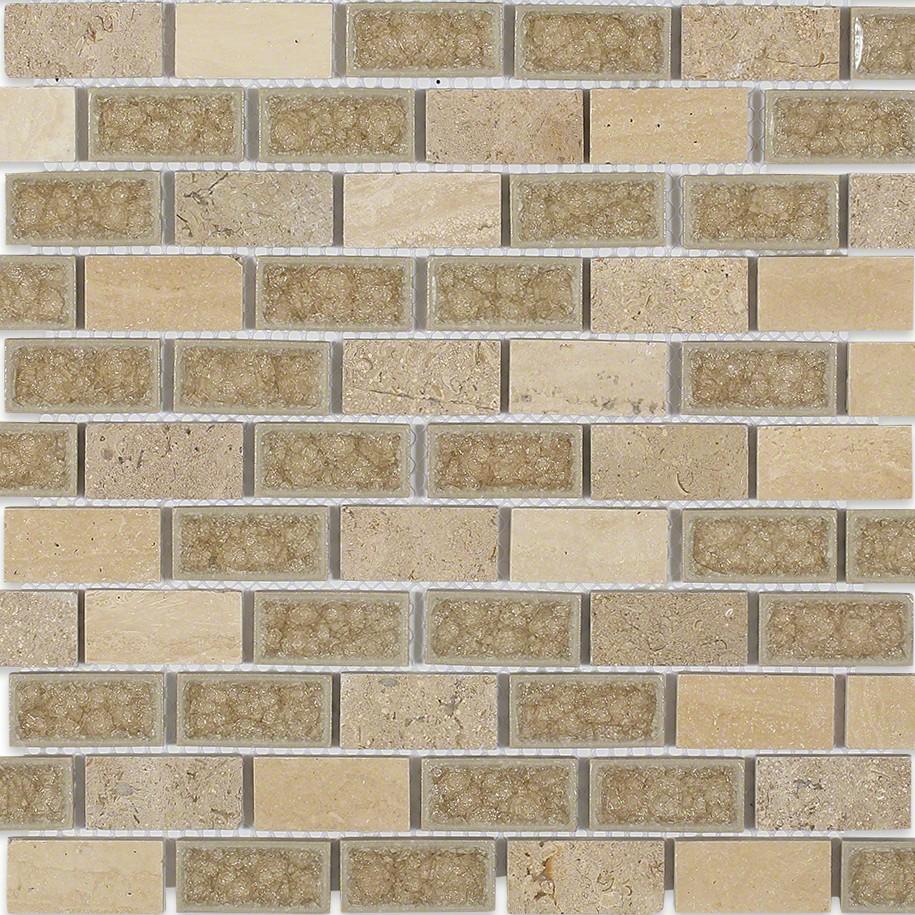 Shop 12x12 Roman Collection Desert Tan Brick Mosaic In A