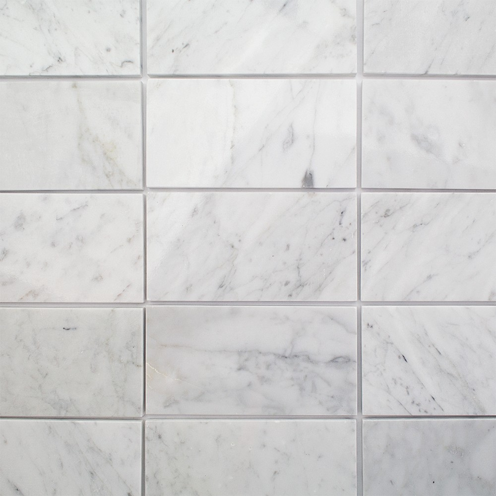 Faux marble subway tile