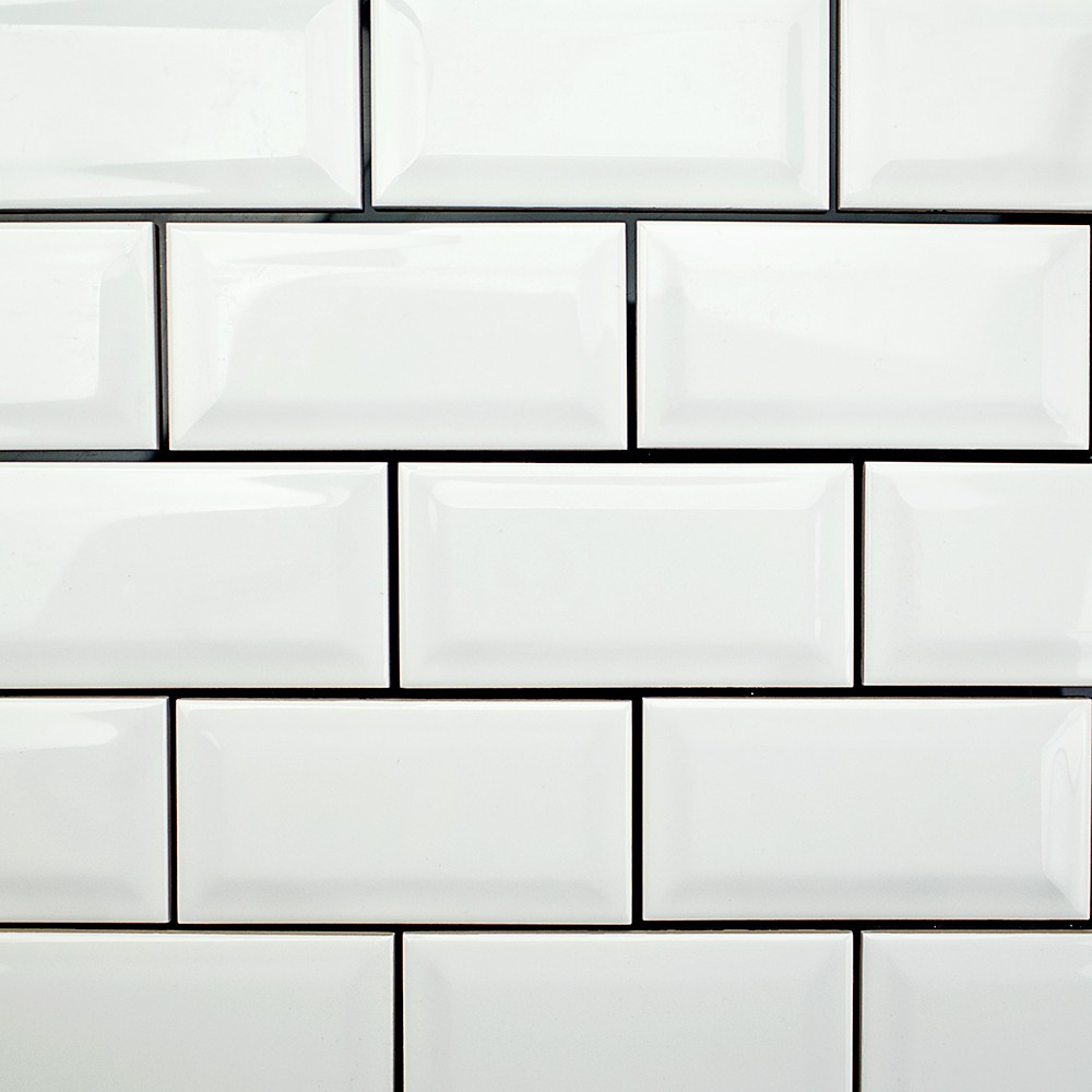 white brick kitchen backsplash with Basic 3x6 Beveled White Ceramic Tile on Watch as well Awesome Kitchen Shelves Design And Diy For Dishes Shelving Wall Mounted Shelf Trends Ideas likewise White Subway Tile Black Grout Bathroom additionally 10 Fixer Upper Modern Farmhouse White Kitchen Ideas besides Stone Wall 2.