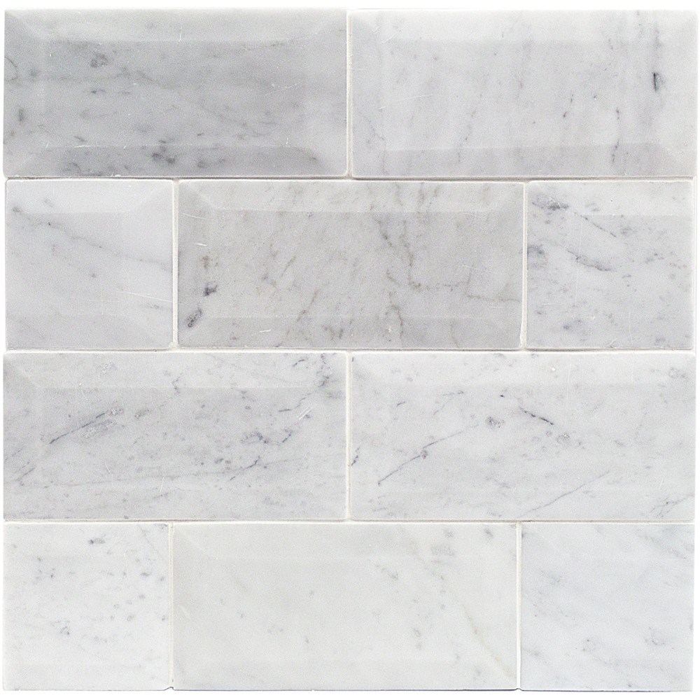 Shop For Speranza Carrera Beveled 3x6 Polished Marble Tile