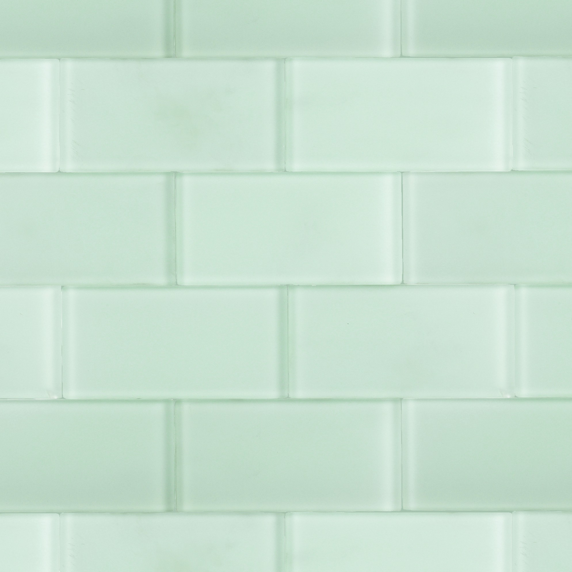 Shop For Loft Seafoam Frosted 3 X 6 Glass Tiles At