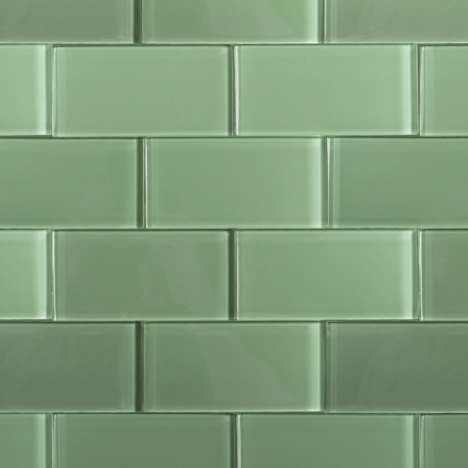 Shop For Loft Spa Green Polished 3x6 Glass Tile At