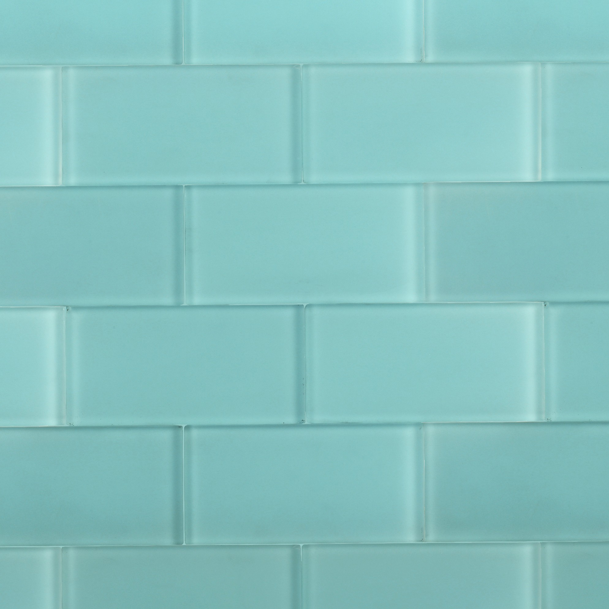 shop for loft turquoise frosted 3 x 6 glass tiles at