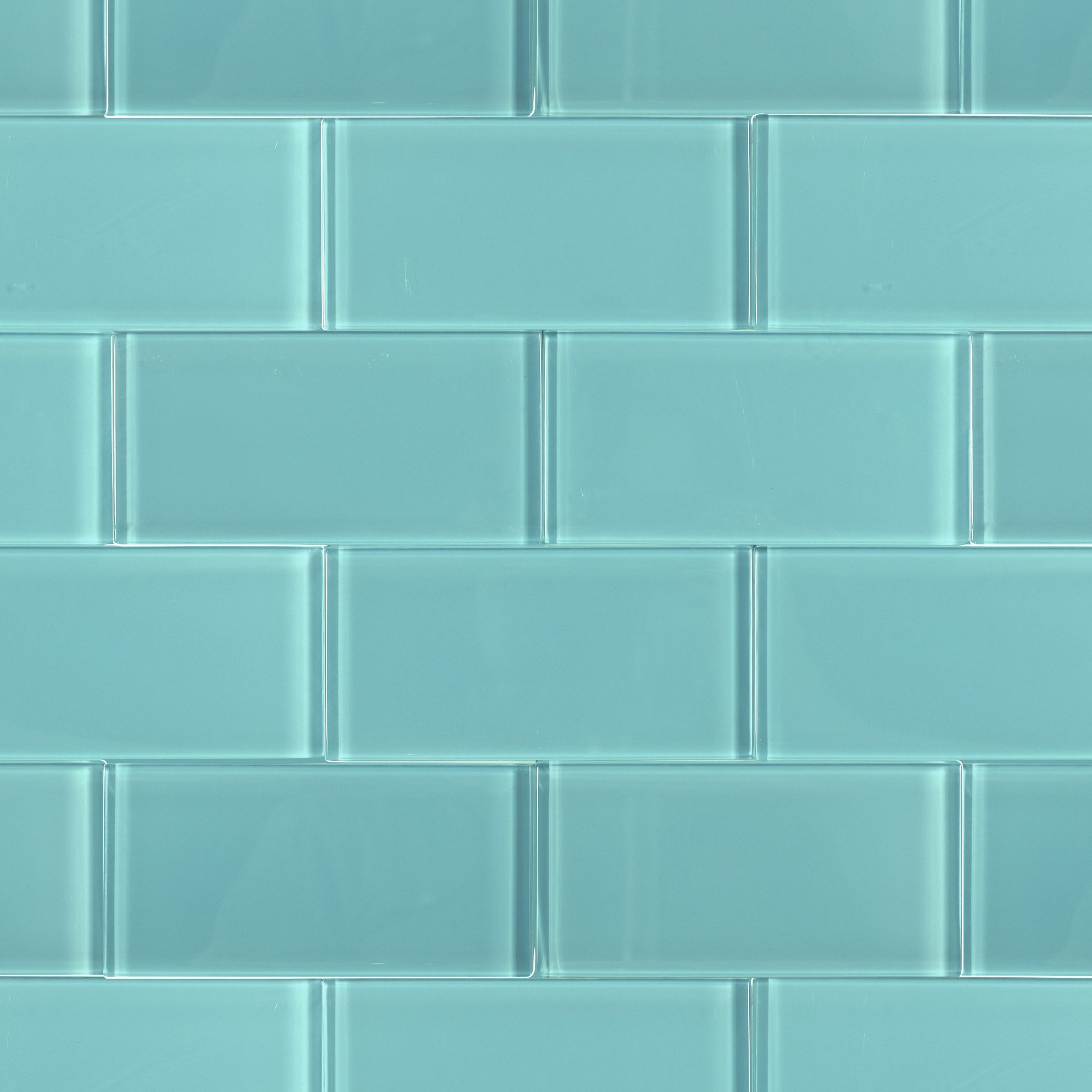 Shop for loft turquoise polished 3 x 6 glass tiles at for Large glass tiles for bathroom
