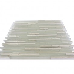 "Breeze Stylus Crema Ice Pattern 1/8"" X Random Glass Tiles"