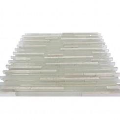 "Breeze Stylus Crema Ice Pattern 1/8"" X Random Glass Tiles"