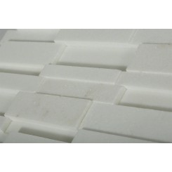 Illusion 3D Brick White Thassos Pattern