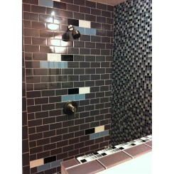 Loft Ash Gray Polished 3x6 Glass Tile
