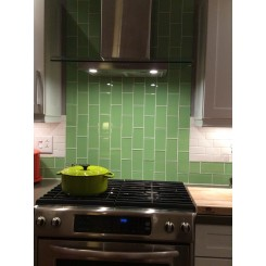 Loft Spa Green Polished 3x6 Glass Tile