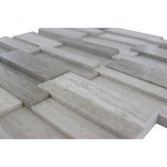 Illusion 3d Brick Wooden Beige Pattern