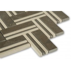 Adagio Lagos Azul With Beige Line Marble Tile