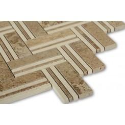 Adagio Travertine With Beige line Marble Tile