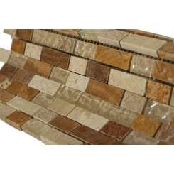 Alloy Canyon Blend 1/2 X Random Glass & Marble Mosaic Tiles