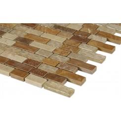 Alloy Canyon Blend 1/2 X Random Glass & Marble Mosaic Tiles