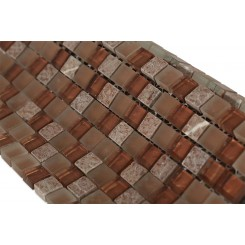 Copper Clay Blend 1/2x1/2 Marble & Glass Tile
